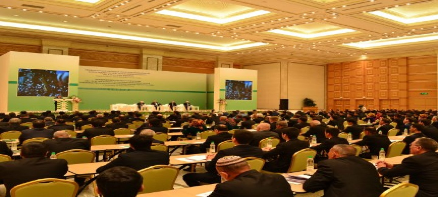 EXHIBITION AND INTERNATIONAL SCIENTIFIC CONFERENCE OF AGRICULTURAL ACHIEVEMENTS OF TURKMENISTAN IS TAKING PLACE IN ASHGABAT