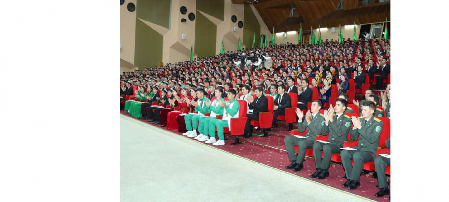 PRESIDENT GURBANGULY BERDIMUHAMEDOV ATTENDED THE VI CONGRESS OF THE YOUTH ORGANIZATION OF TURKMENISTAN NAMED AFTER MAKHTUMKULI